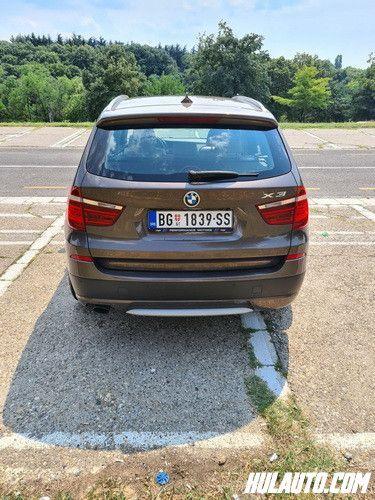 """BMW X3 X DRIVE 2.0 D 2013. godišteAuto je tehnički u besprekornom stanjuUrađeni su svi servisi (redovni, veliki servis, servis menjača, trap, bukvalno sve...)Izuzetno dobro očuvan, prava kilometraža.Kupljen u Srbiji, servisna knjiga, dva ključa.Set letnjih guma (18"""") + set novih zimskih (18"""")Registrovan do 21.02.2021.Moguć svaki vid provere!Cena 16.900 €Kontakt; 0655500999"""