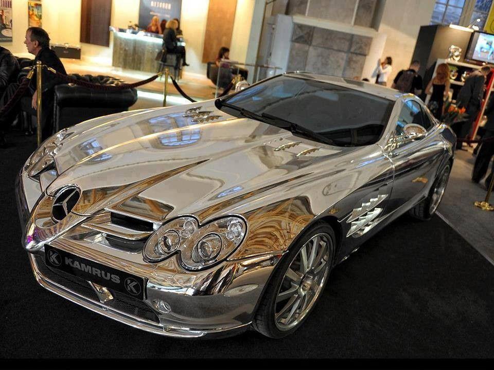 Mercedes od belog zlataVlasnik je Milijarder iz Abu-Dabija, za izradu ovog automobila korisćeno je osamnaestokaratno belo zlato.Ovaj automobil pored toga radi na Biogorivu i ubrzava od 0-100km/h za samo 3 sekunde