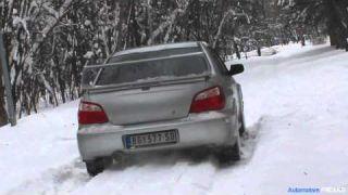 Subaru Impreza STI snow fun