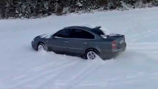 vw passat snow